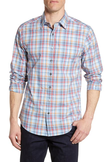 Image of RODD AND GUNN Valley Heights Regular Fit Plaid Button-Up Shirt
