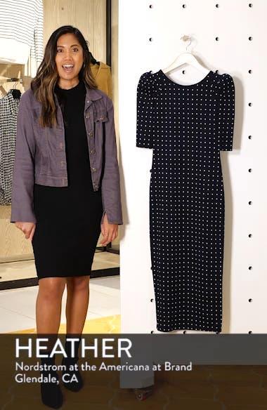 Polka Dot Puff Sleeve Dress, sales video thumbnail