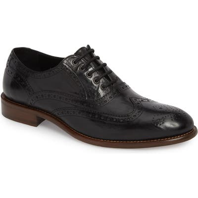 J & m 1850 Bryson Wingtip Oxford- Black