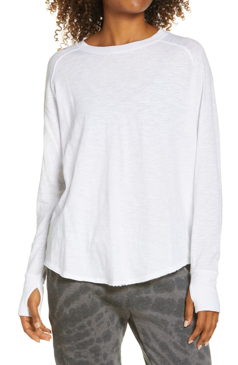 ZELLA Relaxed Long Sleeve T-Shirt, Main, color, WHITE