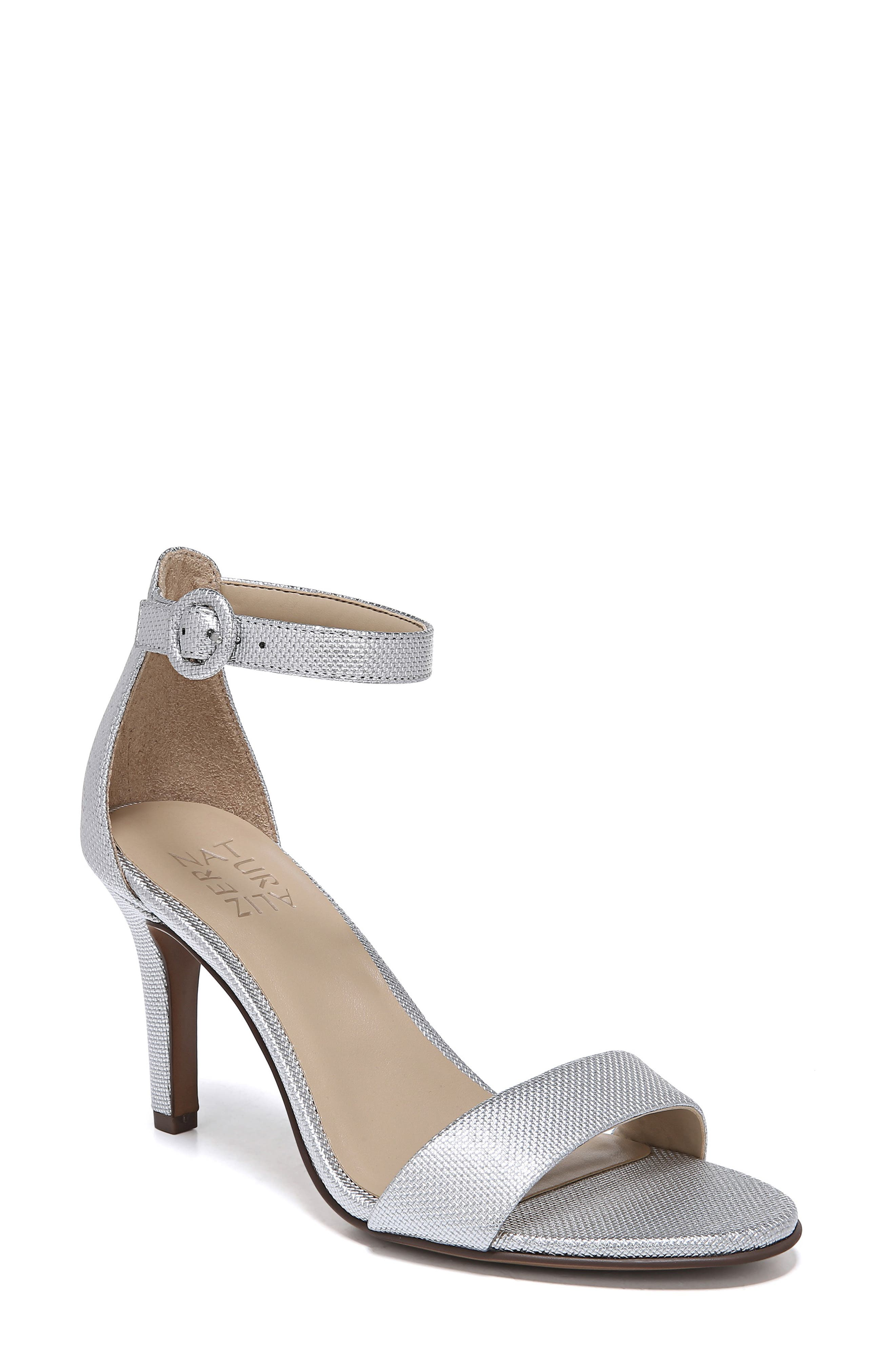 Kinsley Ankle Strap Sandal, Main, color, SILVER