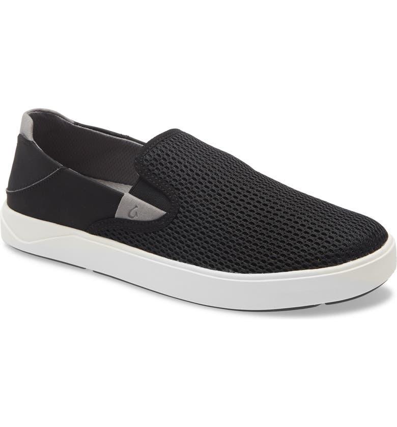 OLUKAI Laeahi Slip-On, Main, color, BLACK/ BLACK