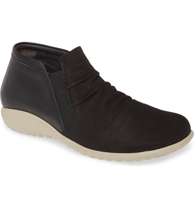 NAOT Terehu Bootie, Main, color, BLACK LEATHER