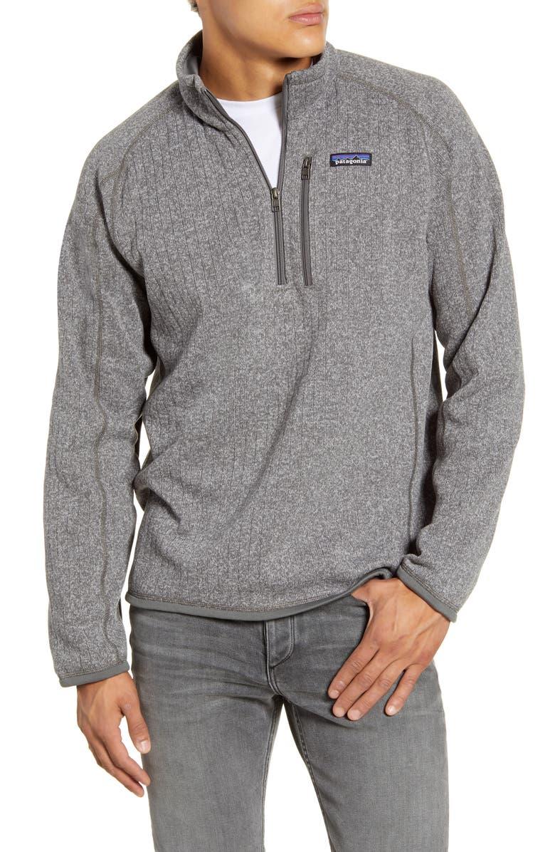PATAGONIA Better Sweater Quarter Zip Pullover, Main, color, STONEWASH RIB KNIT