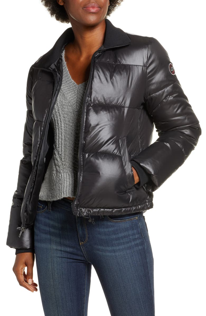 UGG<SUP>®</SUP> Izzie Water Repellent Puffer Jacket, Main, color, 001
