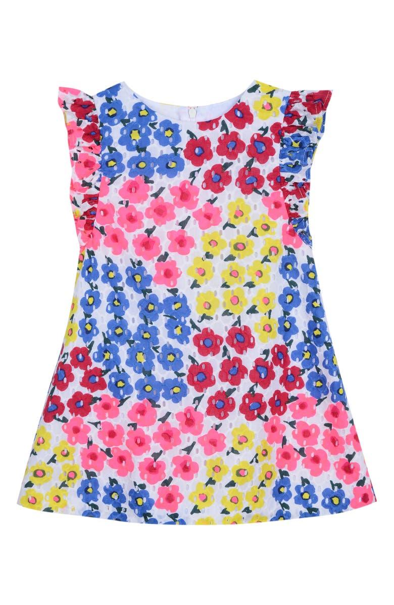 PASTOURELLE BY PIPPA & JULIE Floral Ruffle Sleeve Dress, Main, color, 650
