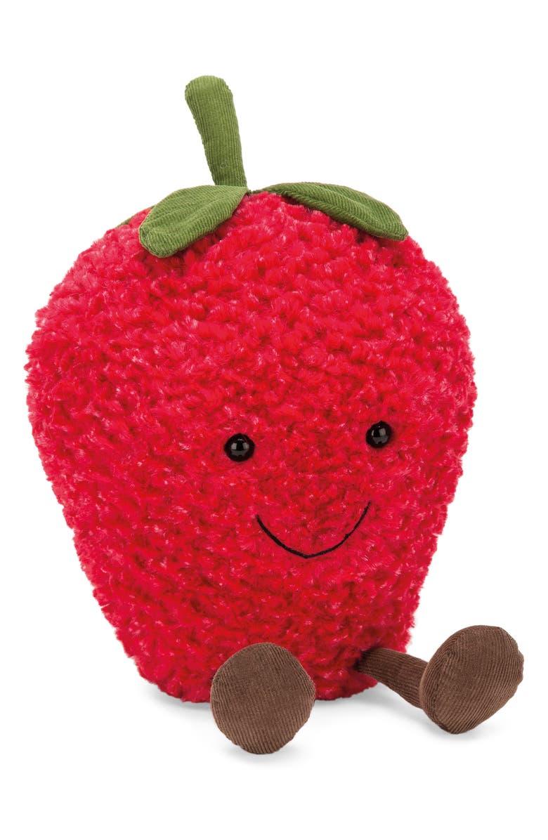 JELLYCAT Medium Amusable Strawberry Plush Toy, Main, color, 600