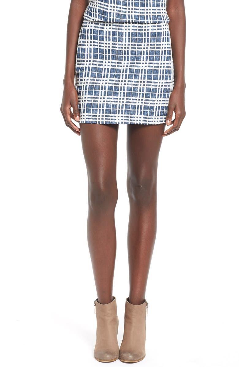 --- Plaid Tweed Miniskirt, Main, color, 460
