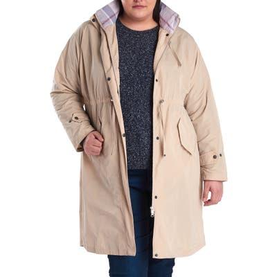 Plus Size Barbour Harper Water Resistant Jacket, Ivory