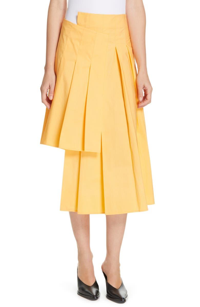 JI OH Unbalanced Pleated Skirt, Main, color, 720