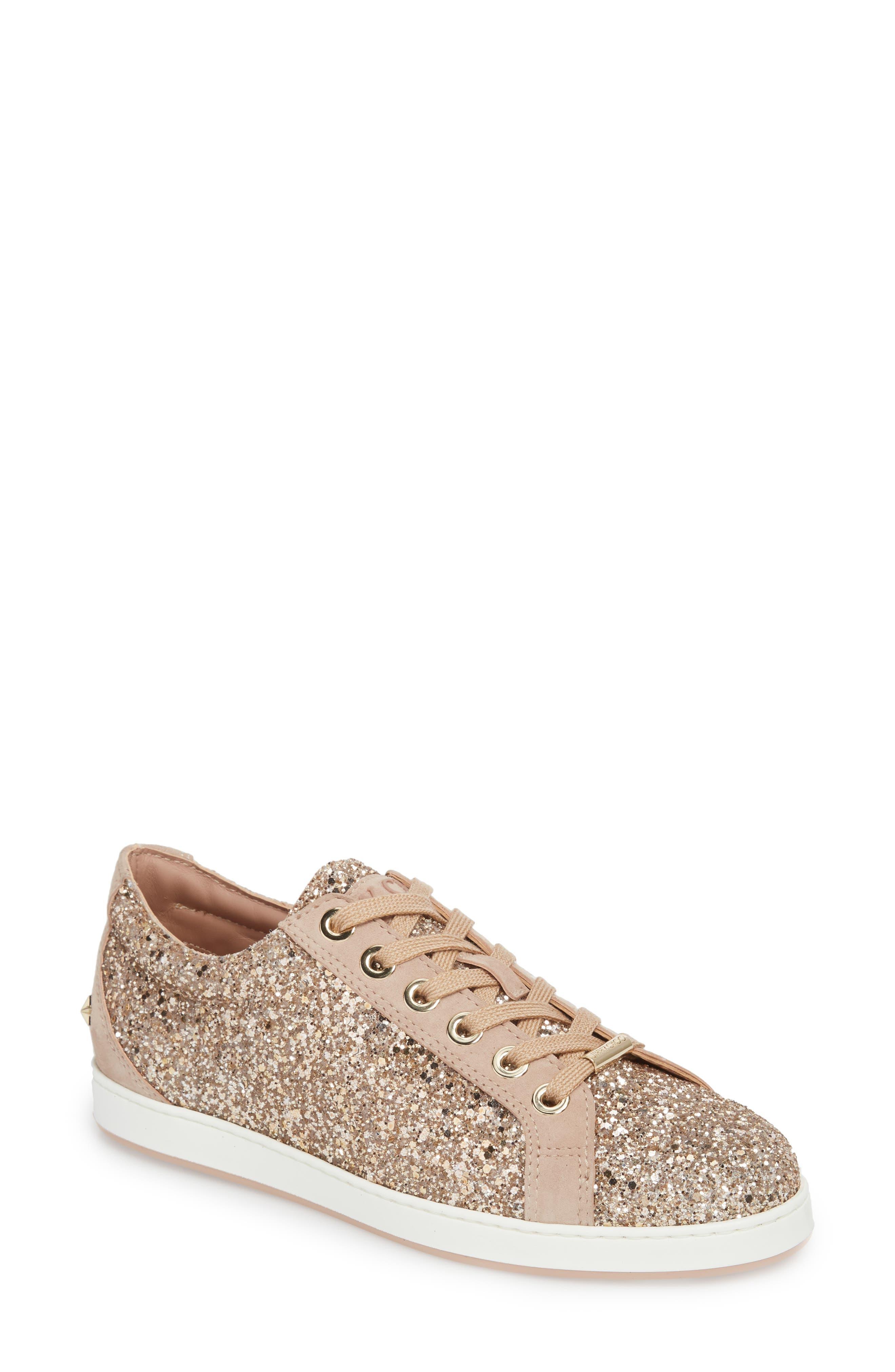 Jimmy Choo Cash Glitter Sneaker (Women