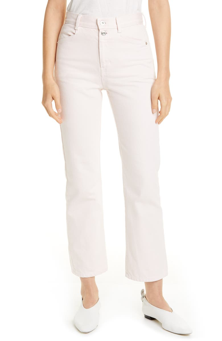 PROENZA SCHOULER White Label Stovepipe Jeans, Main, color, DUSTY PINK