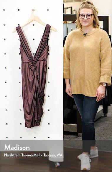 Sass Twist Plunge Neck Body-Con Dress, sales video thumbnail