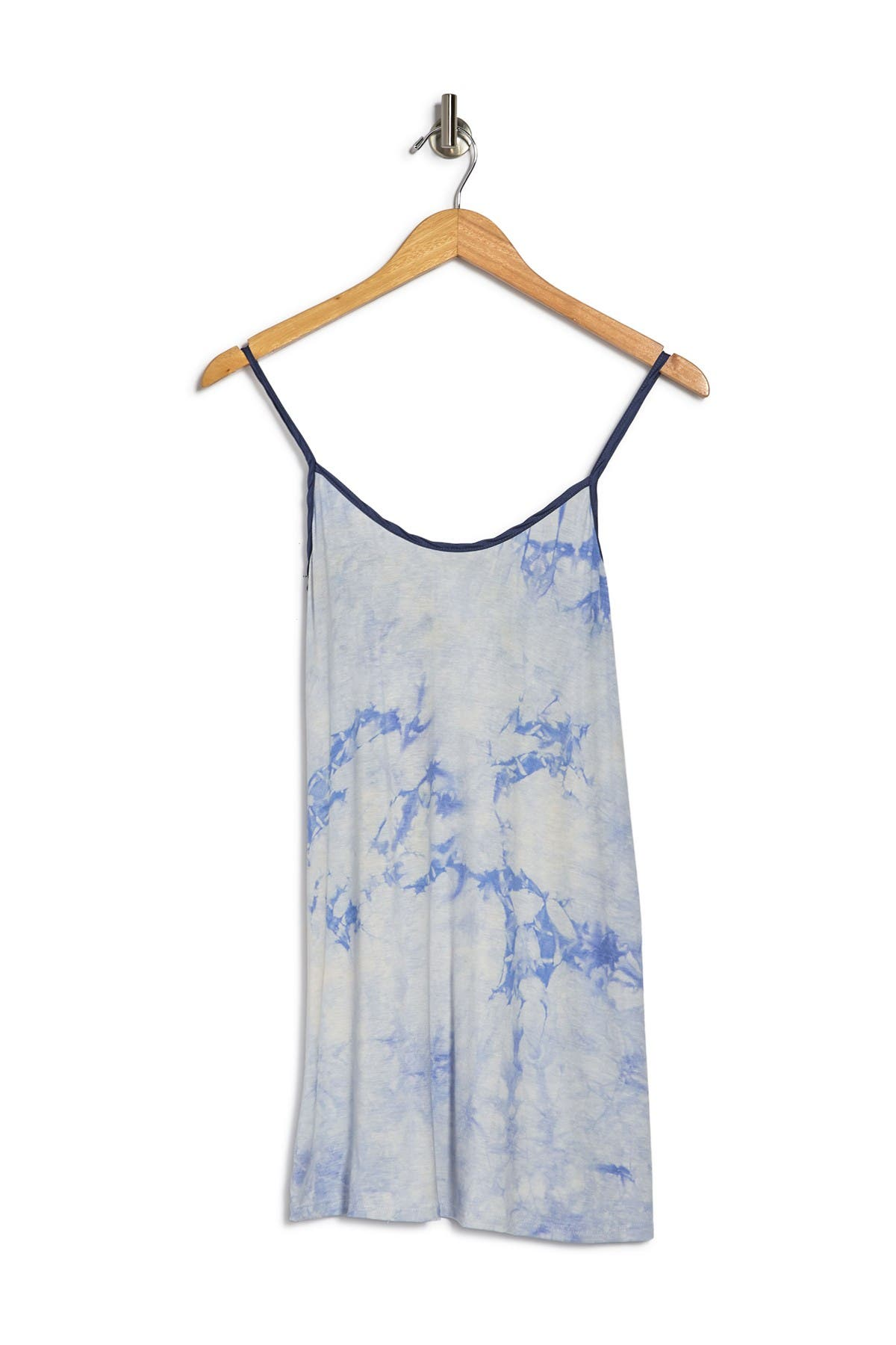 Cozy Rozy Sunkissed Printed Chemise In Pwdr Blue