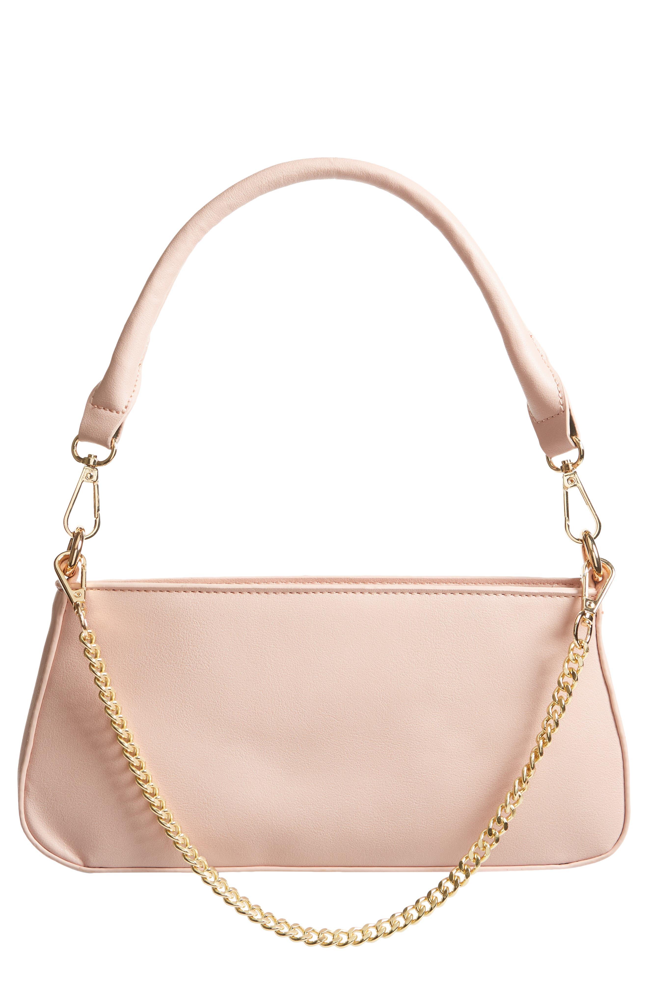 Mali + Lili Classic Vegan Leather Baguette Bag