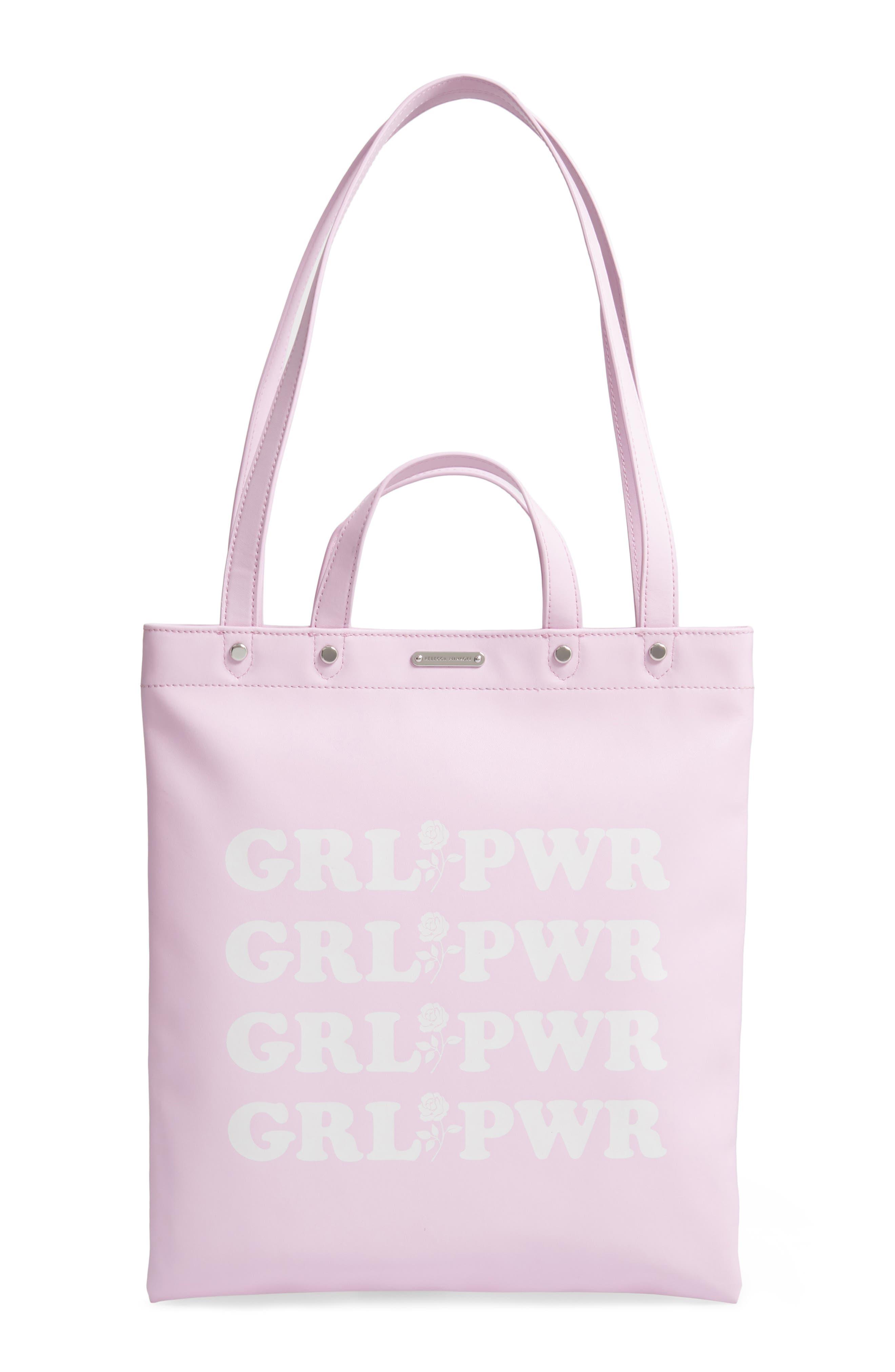 Image of Rebecca Minkoff Grl Pwr Magazine Leather Tote Bag