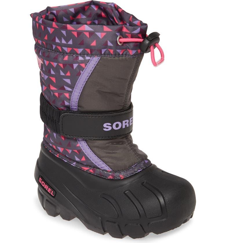 SOREL Flurry Weather Resistant Snow Boot, Main, color, DARK GREY