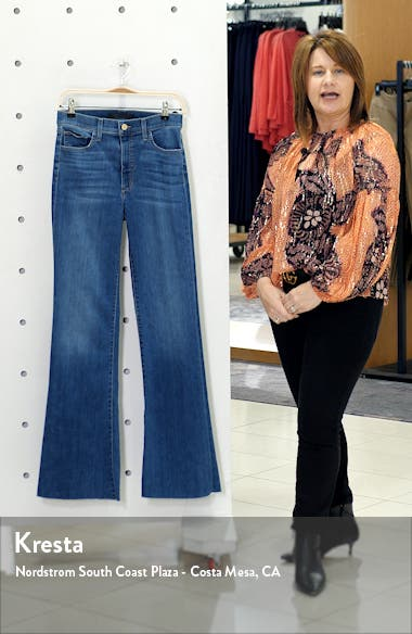 Flawless The Molly High Waist Cut Hem Flare Jeans, sales video thumbnail