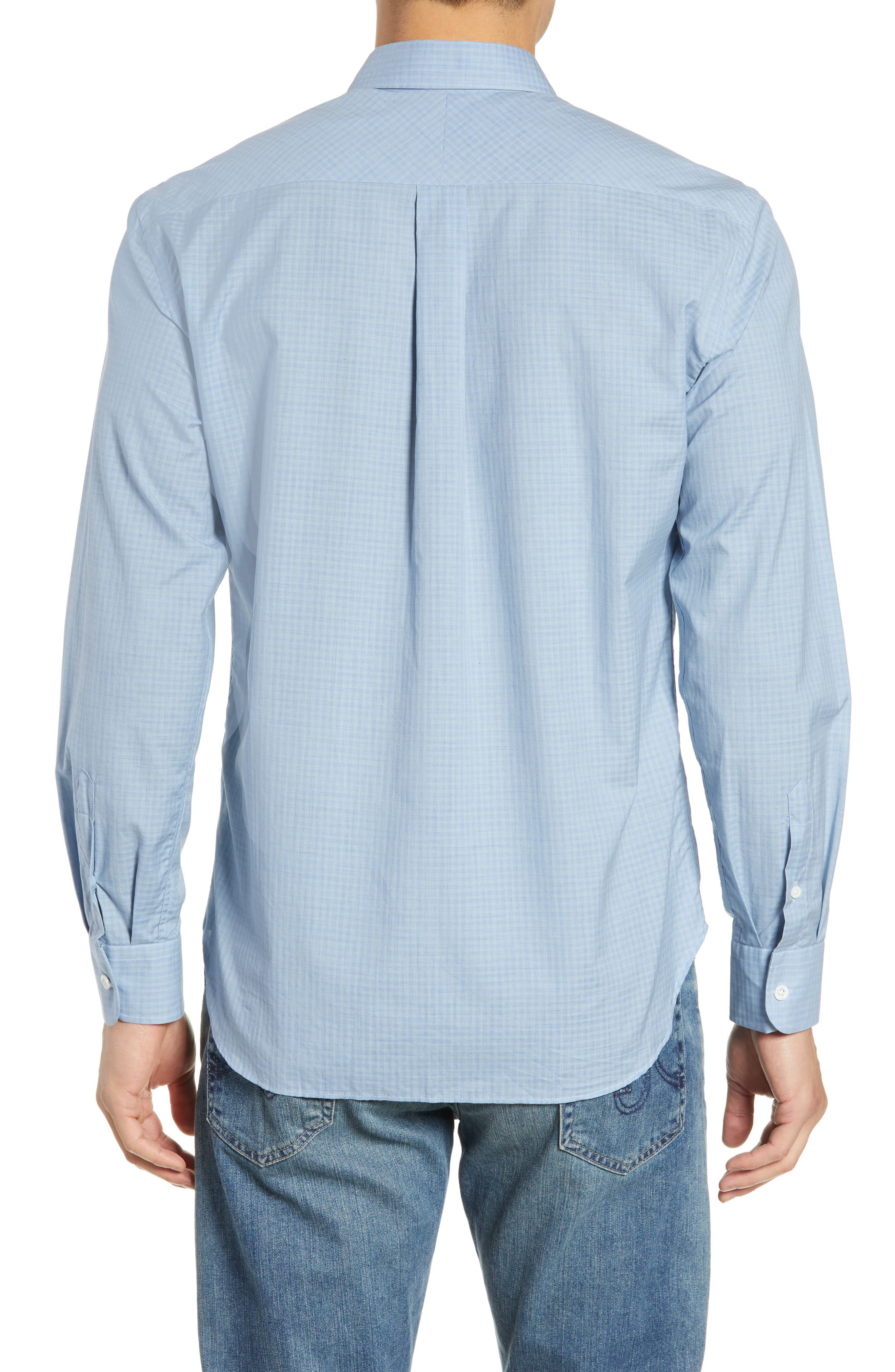 ,                             John T Standard Fit Check Sport Shirt,                             Alternate thumbnail 3, color,                             BLUE