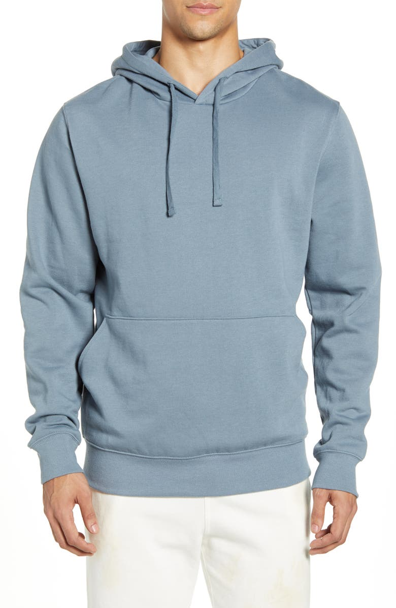 RICHER POORER Cotton Blend Hoodie, Main, color, BLUE MIRAGE
