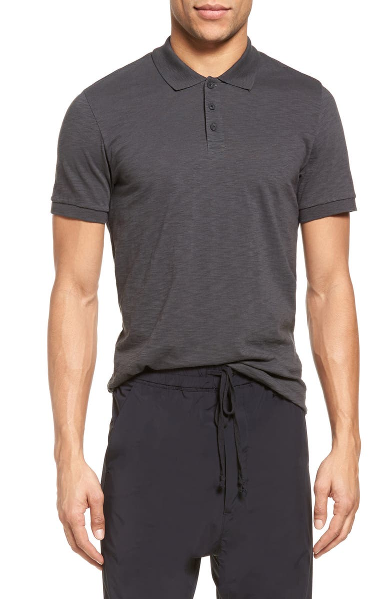 VINCE Slim Fit Slub Jersey Polo, Main, color, SPHERE