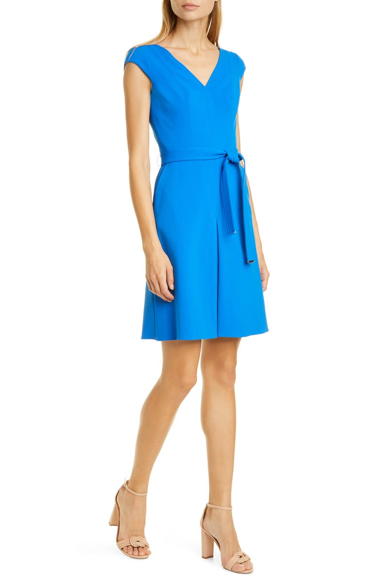 KAREN MILLEN Compact Jersey A-Line Dress, Main, color, 400