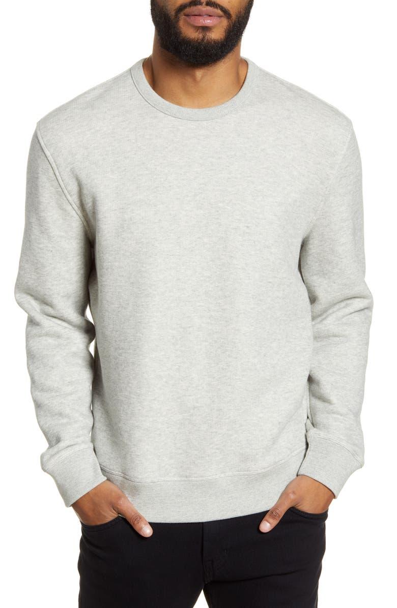 VINCE Regular Fit Crewneck Cotton Sweatshirt, Main, color, 061