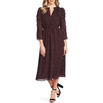 Cece Autumn Serenade Ruffled Midi Dress, Pink