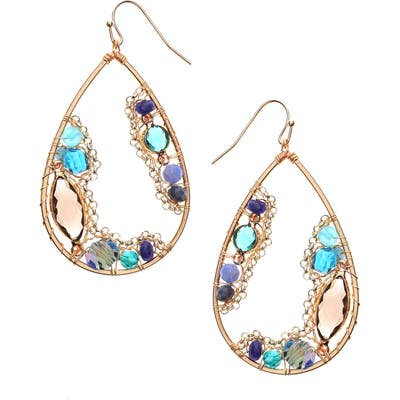 Nakamol Design Crystal Teardrop Earrings