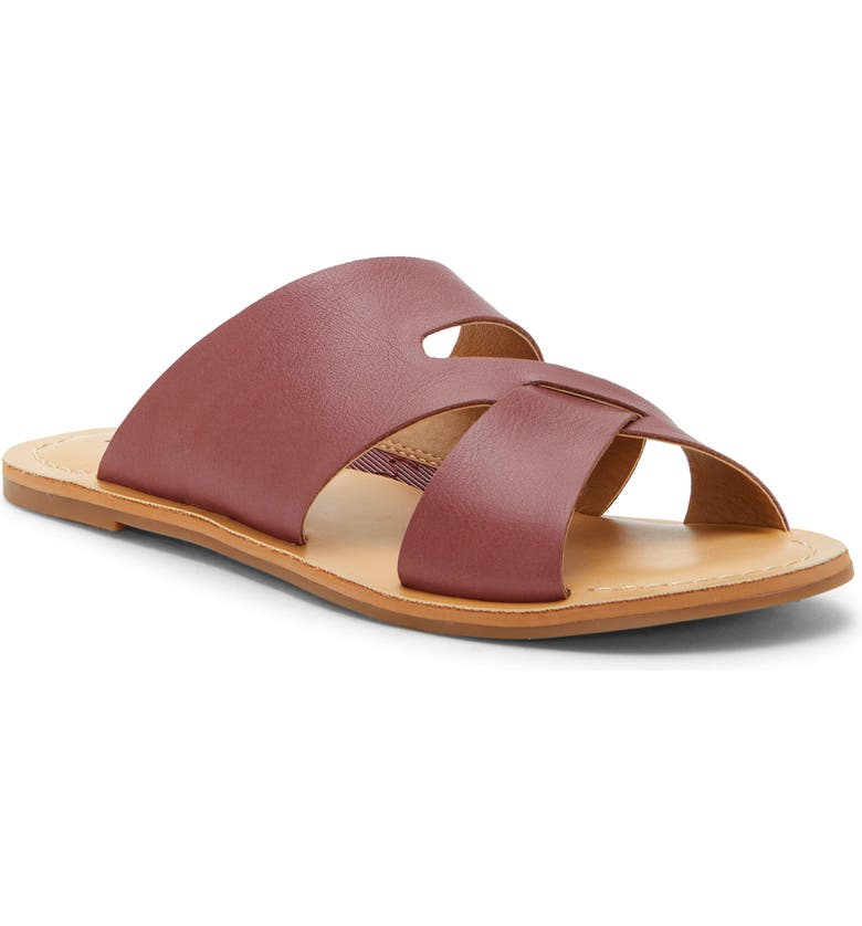LUCKY BRAND Leelan Slide Sandal, Main, color, WILD ORCHID LEATHER