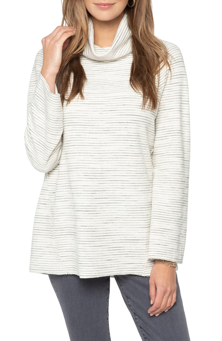 NIC+ZOE Take Comfort In Cowl Neck Top, Main, color, NEUTRAL MIX