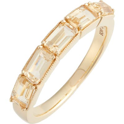 Bony Levy Citrine Baguette Stack Ring (Nordstrom Exclusive)