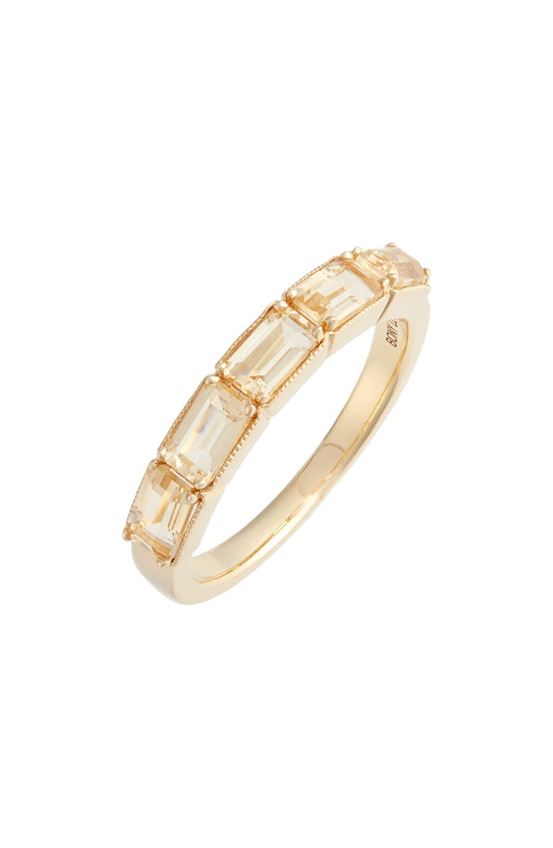 BONY LEVY Citrine Baguette Stack Ring, Main, color, YELLOW GOLD/ CITRINE