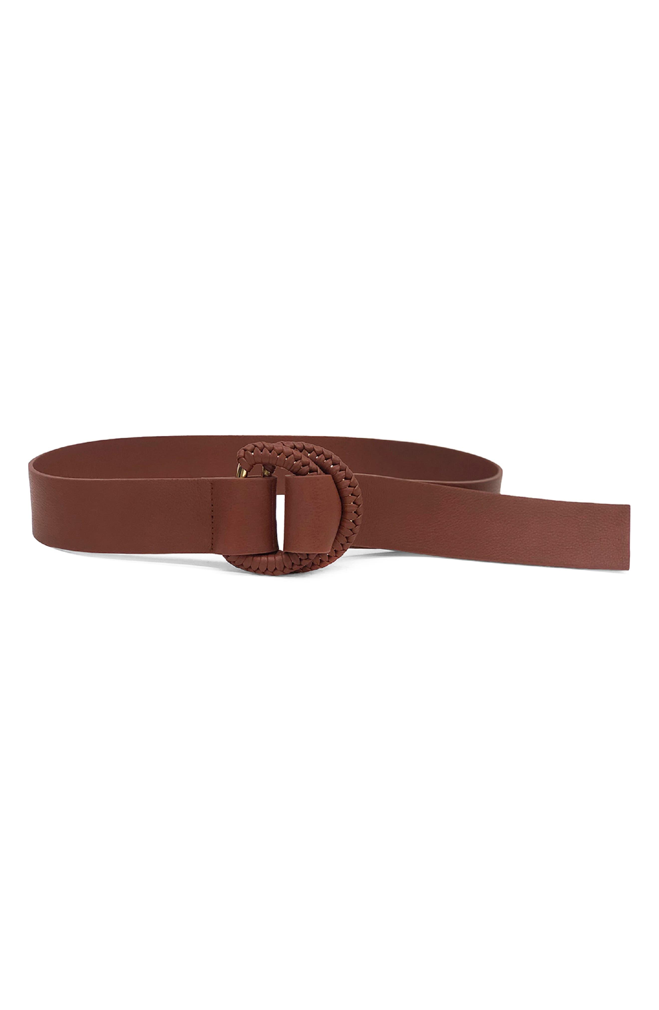 Emille Braided Buckle D-Ring Belt