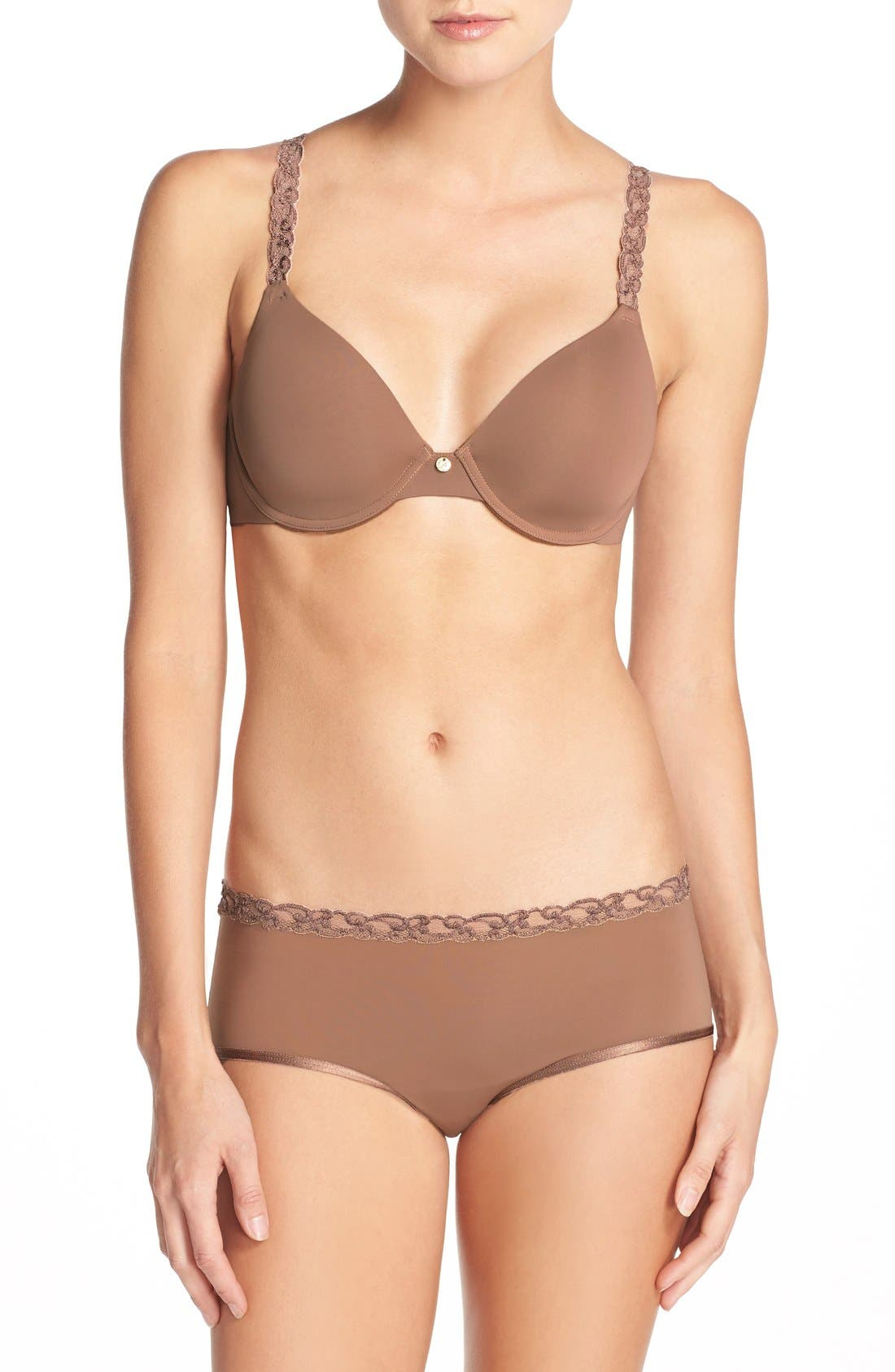 ,                             Pure Luxe Underwire T-Shirt Bra,                             Alternate thumbnail 148, color,                             207