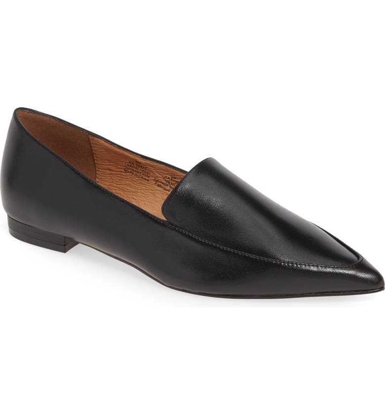 HALOGEN<SUP>®</SUP> Kendra Pointy Toe Loafer, Main, color, BLACK LEATHER