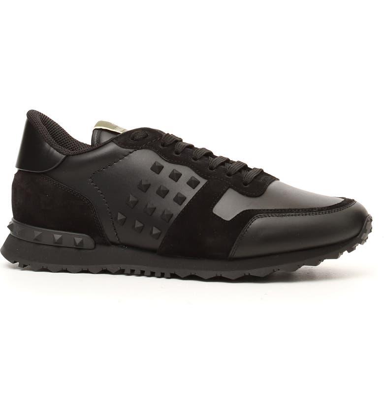 VALENTINO GARAVANI Rockrunner Sneaker, Main, color, BLACK/ BLACK
