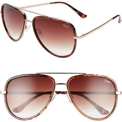 Quay Australia X Jlo All In 5m Aviator Sunglasses - Tortoise/ Brown Fade