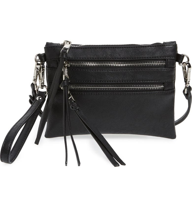 SOLE SOCIETY 'Camilla' Faux Leather Clutch, Main, color, 001