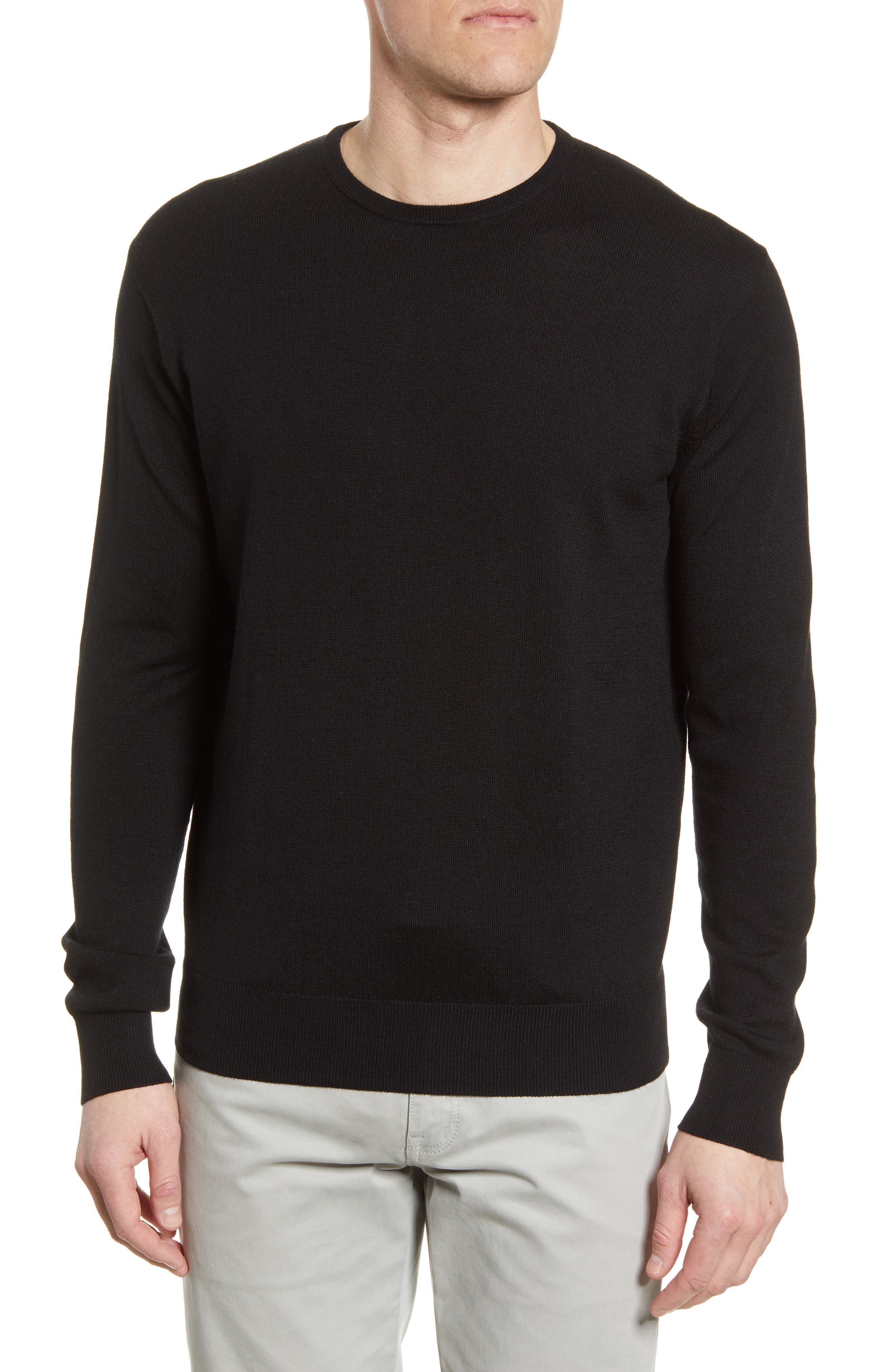 A lightweight crewneck sweater that\\\'s perfect for gifting is made from a refined pima-cotton blend that includes a kiss of cashmere for softness. Style Name: Peter Millar Crown Crewneck Sweater. Style Number: 5880984. Available in stores.