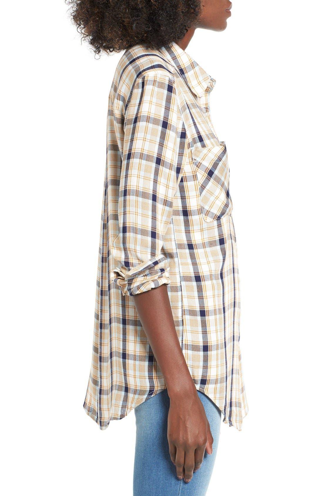 ,                             Plaid Tunic Shirt,                             Alternate thumbnail 45, color,                             900