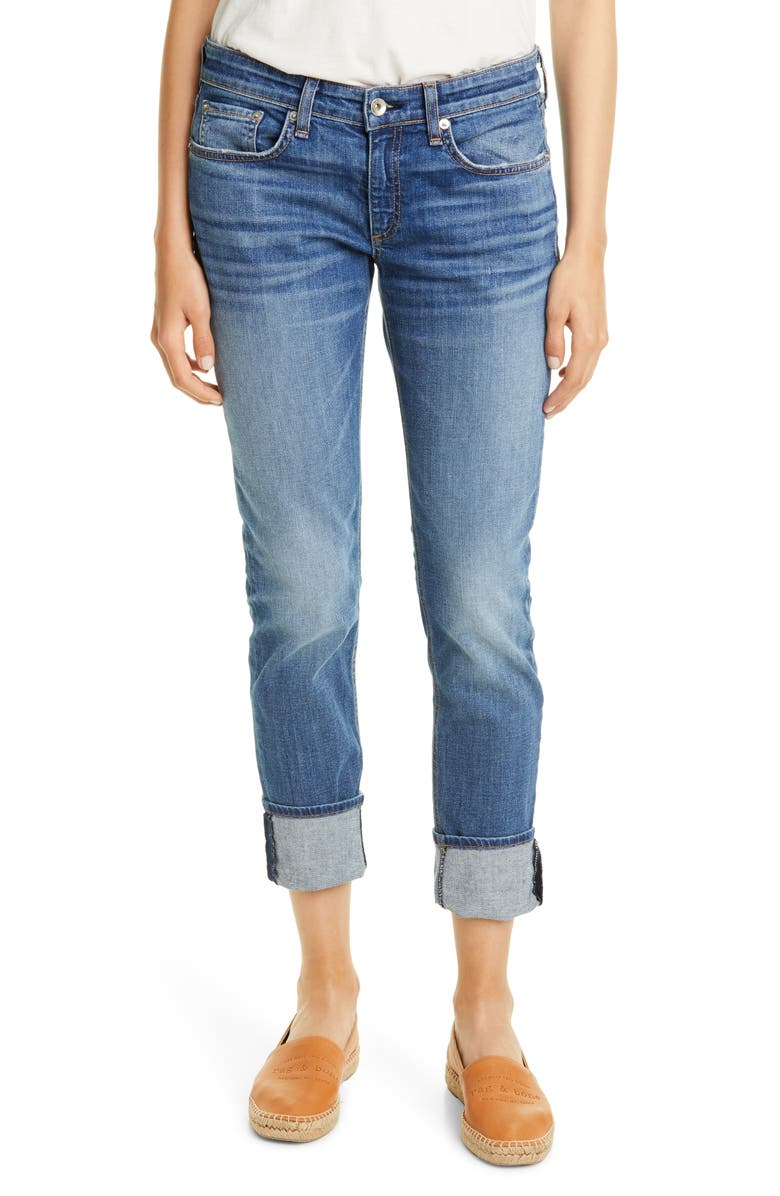 RAG & BONE The Dre Slim Boyfriend Jeans, Main, color, BALBOA