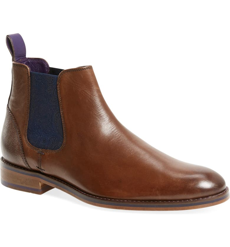 TED BAKER LONDON 'Camroon 4' Chelsea Boot, Main, color, BROWN LEATHER