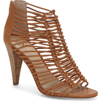Vince Camuto Alsandra Strappy Cage Sandal- Brown