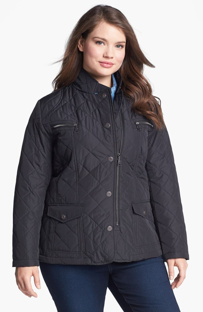 KRISTEN BLAKE Quilted Jacket, Main, color, 001
