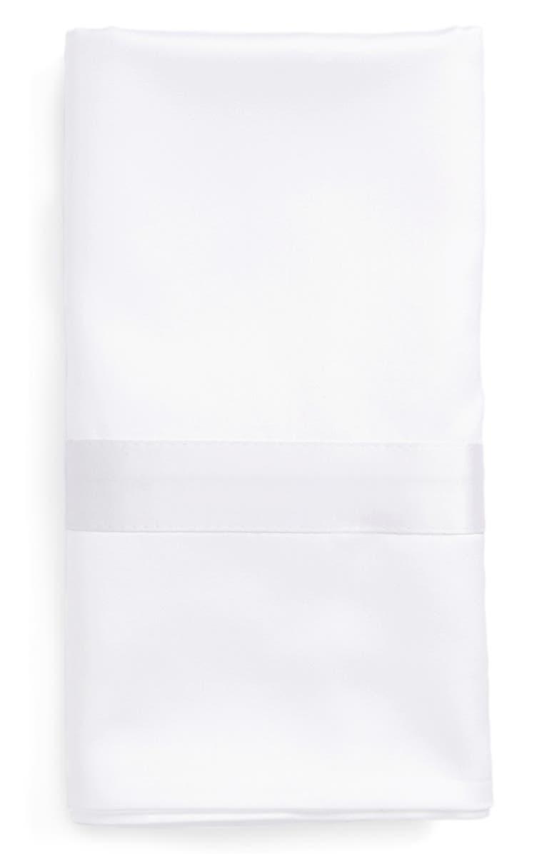 MATOUK Nocturne 600 Thread Count Pillowcase, Main, color, WHITE