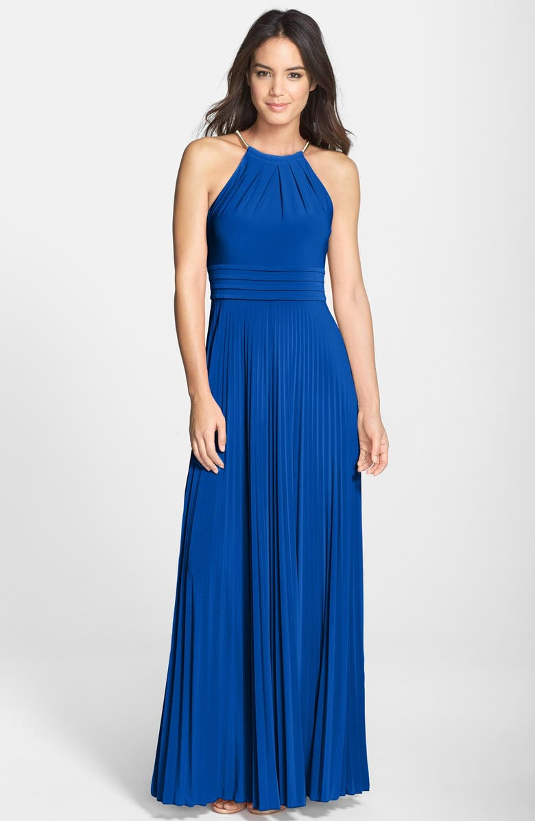 ELIZA J Pleated Jersey Maxi Dress, Main, color, 430