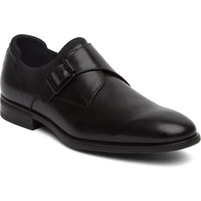 Kenneth Cole Reaction Edge Flex Monk Strap Shoe- Black