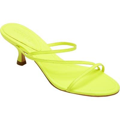 Schutz Evenise Slide Sandal- Yellow