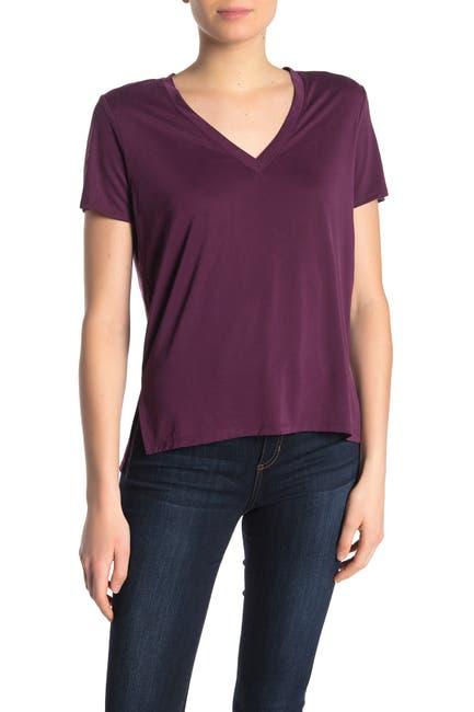 Image of Lush V-Neck Short Sleeve T-Shirt
